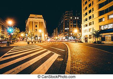 dc., h , δρόμοs , βάσιγκτων , καινούργιος , διατομή , νύκτα , λεωφόροs , york