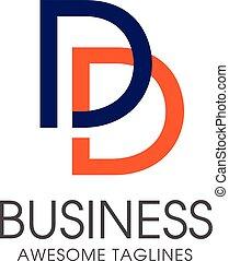 DD letter logo design vector