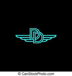 DD wing logo vector