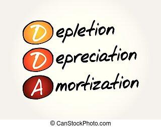DDA acronym, business concept background