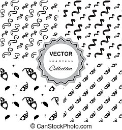 Ddoodle abstract seamless pattern collection - Set of 4...