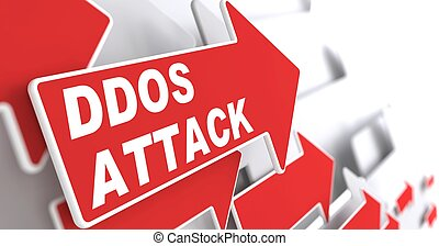 "DDOS Attack. Information Concept. Red Arrow with ""DDOS ..."