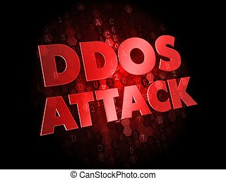 DDoS Attack on Dark Digital Background. - DDoS Attack - Red ...