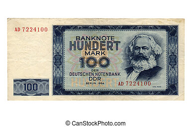 DDR banknote - 100 Mark banknote from the DDR (East Germany)...