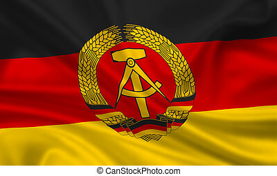 DDR - waving flag of the german democratic republic