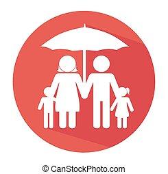 deštník, design, vektor, illustration.