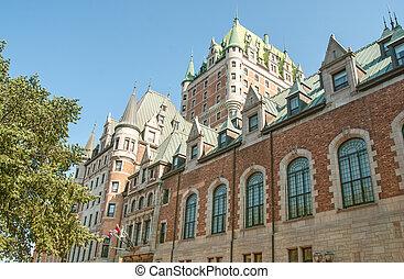 de, ホテル frontenac, ケベック, 壮大, 城, 城