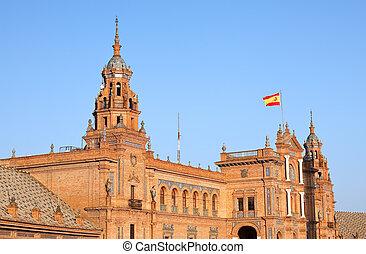 de, 塞維利亞, espana, 廣場