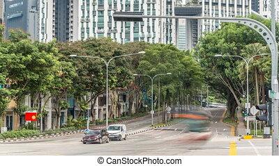 de, aftakking, van, straten, in, singapore's, dichtbij, chinatown, timelapse.