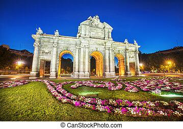 de, alcala, マドリッド, puerta, スペイン