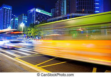 de alta velocidad, caminos, vehículos, urbano