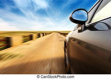 de alta velocidad, coche