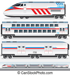 de alta velocidad, lokomotive, waggons.