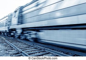de alta velocidad, tren, bienes, Manejar, llenado