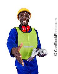 de arbeider van de bouw, afrikaan