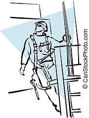 de arbeider van de bouw