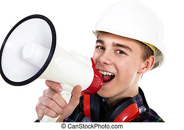 de arbeider van de bouw, jonge