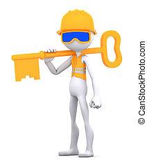 de arbeider van de bouw, klee
