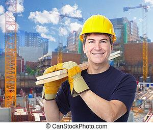 de arbeider van de bouw, man.