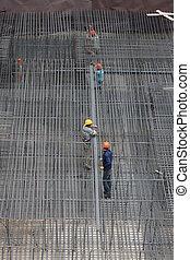 de arbeiders van het staal