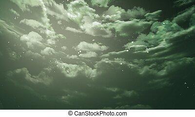 de, beauty, avond lucht, met, ster, achtergrond