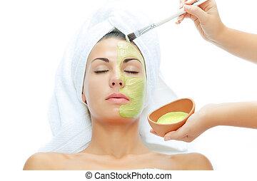 de behandeling van de huid