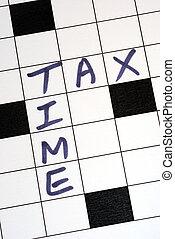 de, belasting, tijd