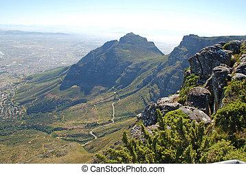 de berg van de lijst, kaapstad, zuid-afrika