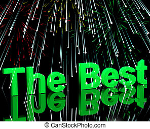 de, best, woorden, met, vuurwerk, het tonen, bovenzijde,...