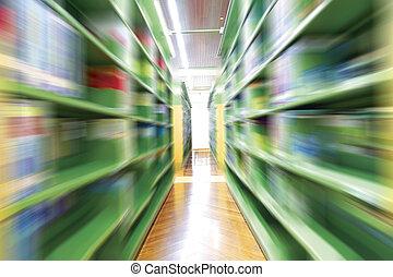 de, bibliotheek, vatting, met, boekjes , en, lezingsmateriaal