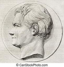 De Blainville - Old illustration of a commemorative...