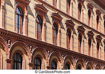 de buitenkant van de bouw, facade, postfuhramt, berlin, historisch, historisch