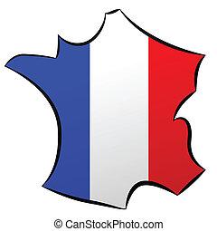 de, carte, francia