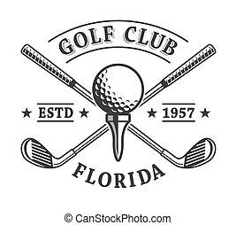 de clubs van het golf, embleem