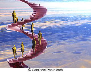 de, collectief, ladder.