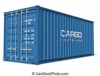 de container van de lading