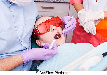 de, dentaal, polymerisation