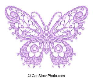 de encaje, butterfly.