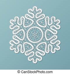 de encaje, ornamento, copo de nieve