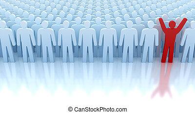 de, enige, winnaar, van, de, menigte.