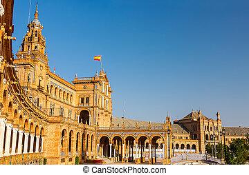 de, espana, sevilla, plaza