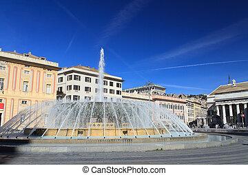 De Ferrari square in Genova, Italy