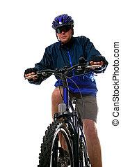 de fiets van de berg, man