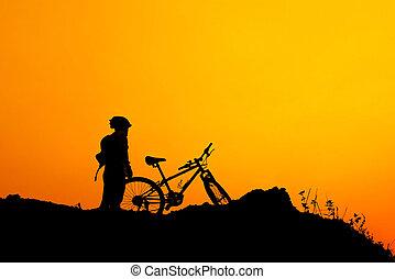 de fiets van de berg