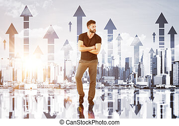 de financiële groei, concept
