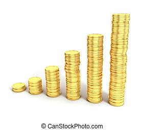 de financiële groei, of, geld, besparing