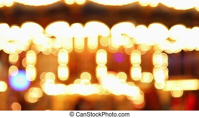 de-focus amusement park light