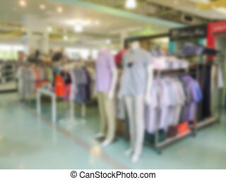 Blurred image of a clothing store
