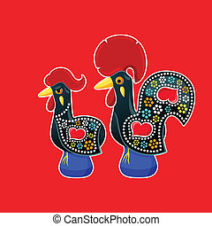 de, galo, galinha, barcelos