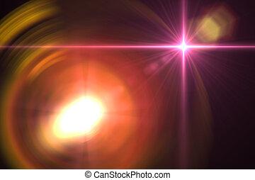 de gloed van de lens, abstract, achtergrond